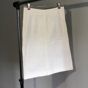 White jean denim vintage pencil a-line skirt